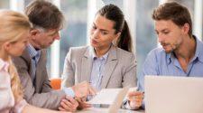 briefing inhalte business meeting im office