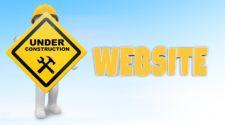 Website Startseite gestalten Under Construction Schild