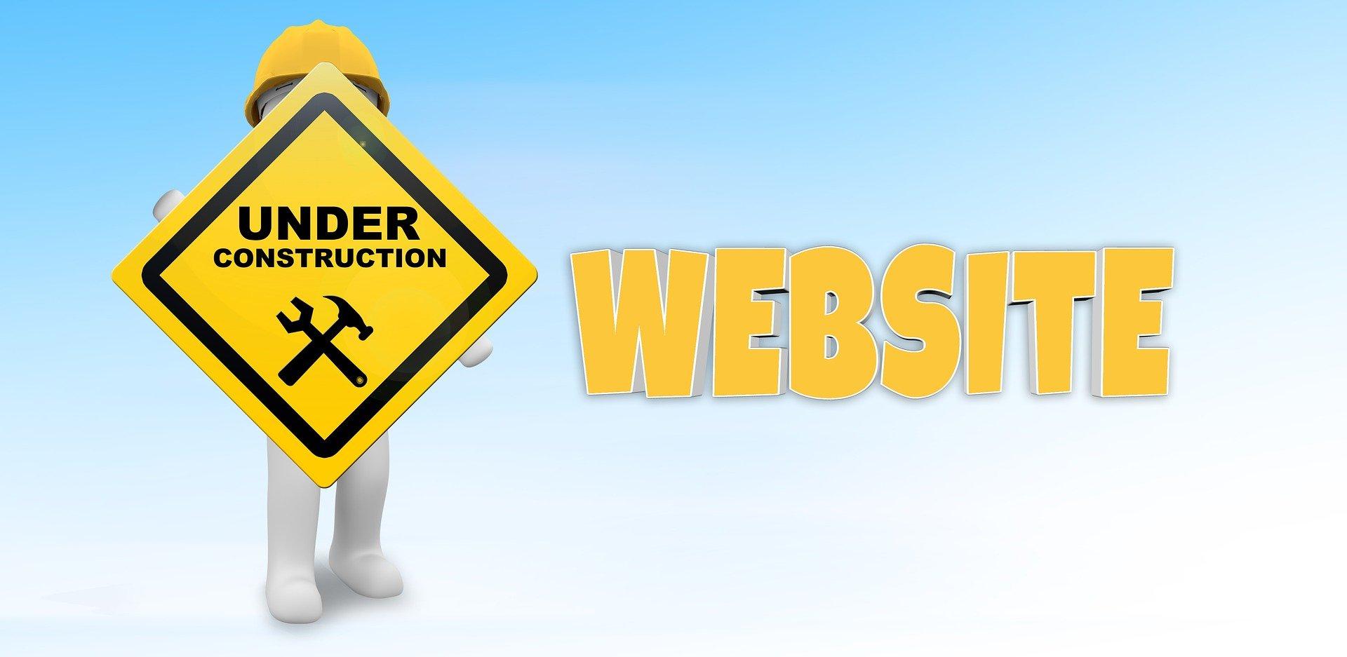beste schriftart für webseiten Under Construction Schild