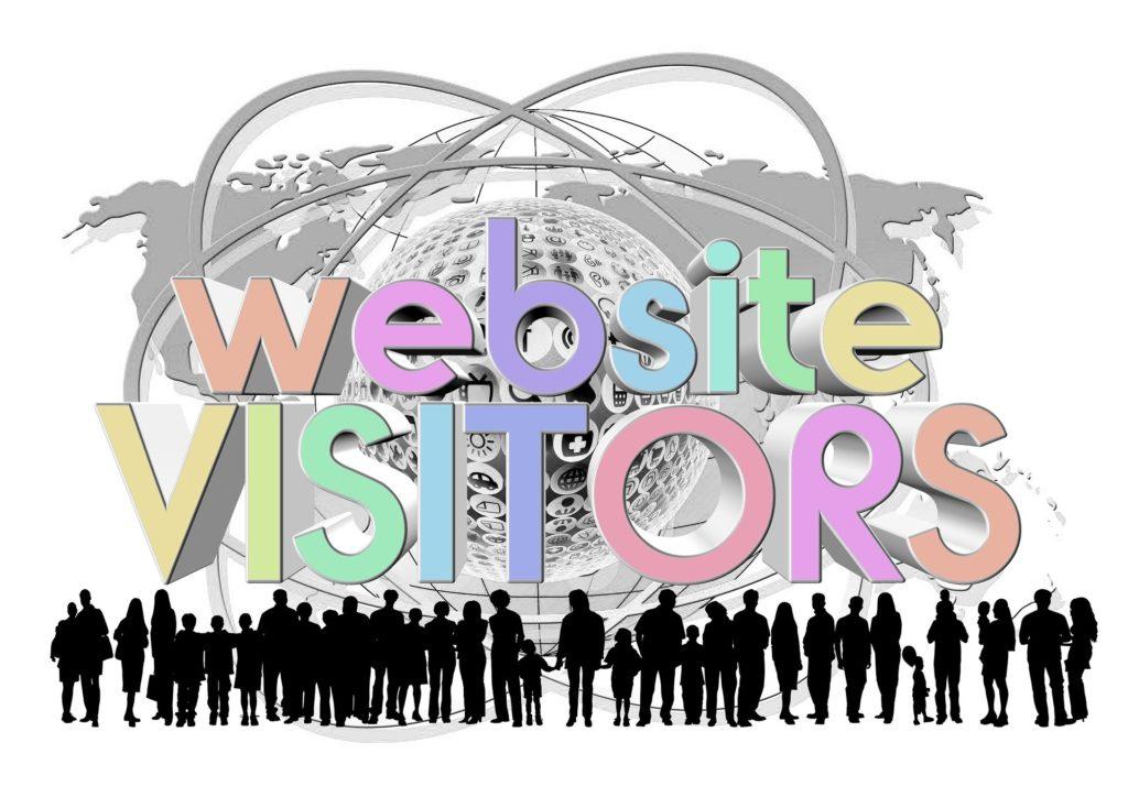 Website Startseite gestalten Website Visitors Grafik