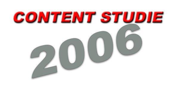 Content Studie 2006