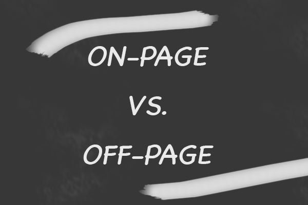 On-Page- vs. Off-Page