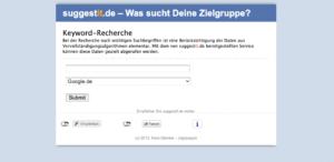 Screenshot Suggestit Keyword Recherche kostenlos