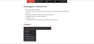 Screenshot SEORCH Keyword Recherche kostenlos