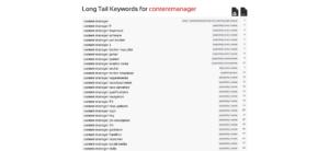 Screenshot SEORCH Keyword Liste Keyword Recherche kostenlos