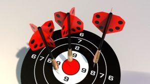 Blog Konzept Zielscheibe Darts