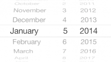 Das native Element, um unter iOS7 ein Datum auszuwählen