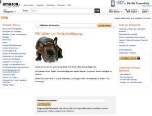 Fehlerseite Amazon
