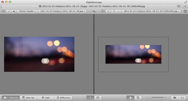 Auch Bilder lassen sich mit Kaleidoscope vergleichen