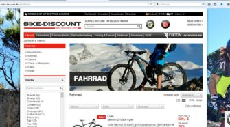 Website bike-discount.de
