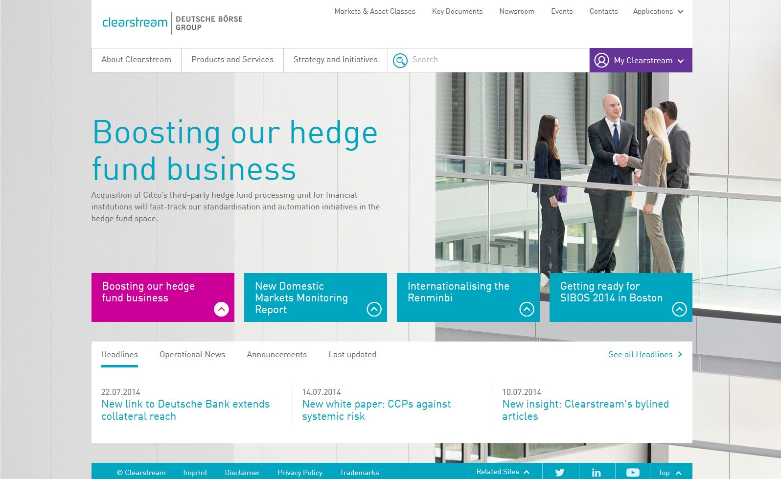clearstream Website