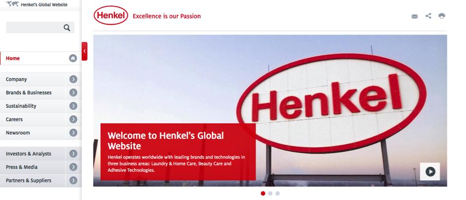 Screenshot Henkel Website