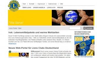 Neues Web-Portal für deutsche Lions Clubs