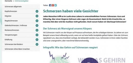 Wissensbereich auf dolormin.de: der Schmerzratgeber