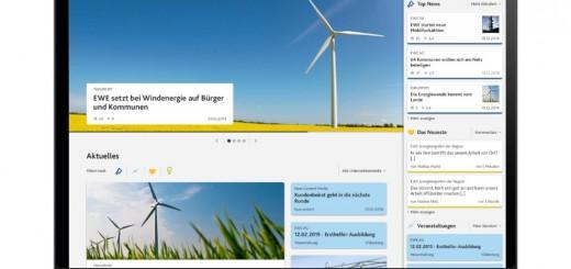 EWE Social Intranet aus Basis der Sitecore Experience Platform