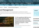 Gartner listet OpenText als Leader im Magic Quadrant für Web Content Management