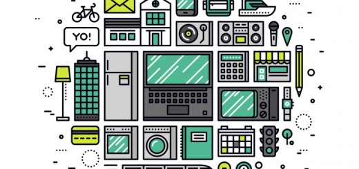 Internet of things line style illustration