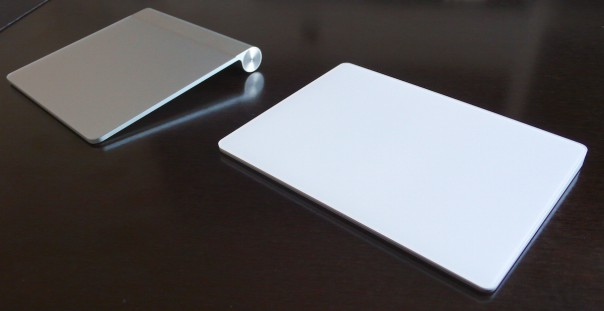 Das Magic Trackpad 2 im Vergleich zu seinem Vorgänger.