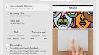 In den Systemeinstellungen kann man den Klick des Trackpads stumm schalten – behält aber das haptische Feedback.