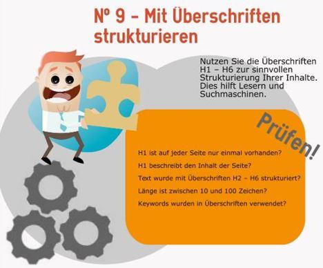 Infografik: Ueberschriften für SEO nutzen
