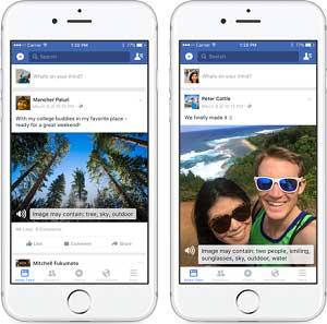 Facebook Feature für Blinde