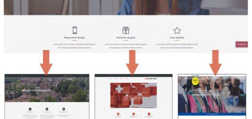 Template-Sharing - drei portale mit nur einem template