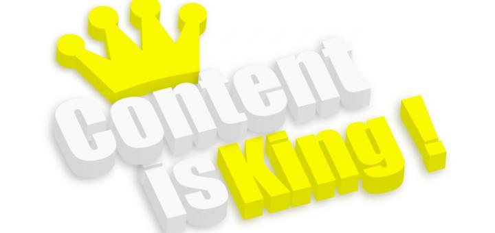 """Schriftzug """"Content is king"""""""