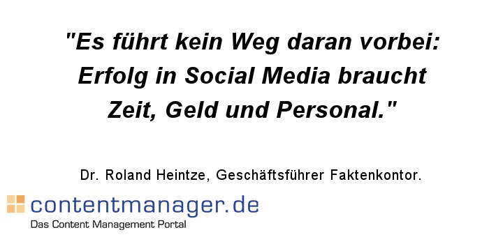Corporate Social Media: Erfolg kommt mit Erfahrung - und scheitert am Geiz