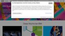 Cookie Hinweis bei IBM