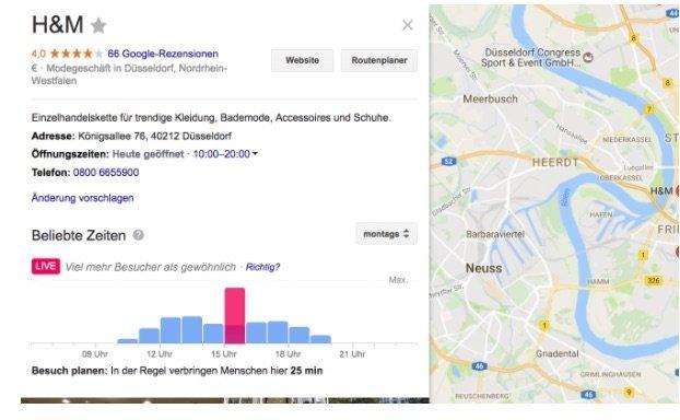 Der Einsatz von Google Maps kann die Besucherzahl in den stationären Handel erheblich beeinflussen.