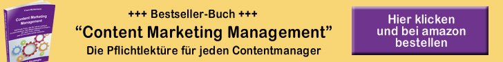 Bestellerbuch Content Marketing Management