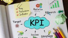 Verschiedene Treiber von Marketing KPIs auf Blatt Papier visualisiert