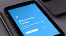 Twitter Bildschirm auf Smartphone