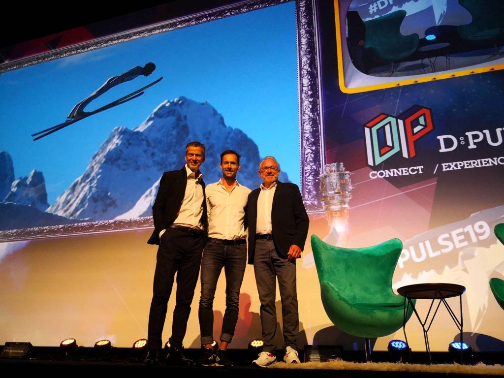 Foto von Frank Schneider und Christian Muche während der D:PULSE in Zürich