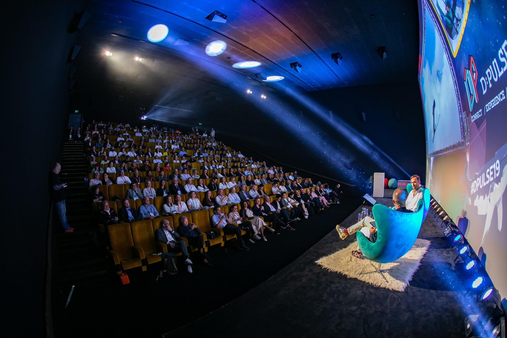 Blick auf Zuschauer während eines Vortrags auf der D:PULSE