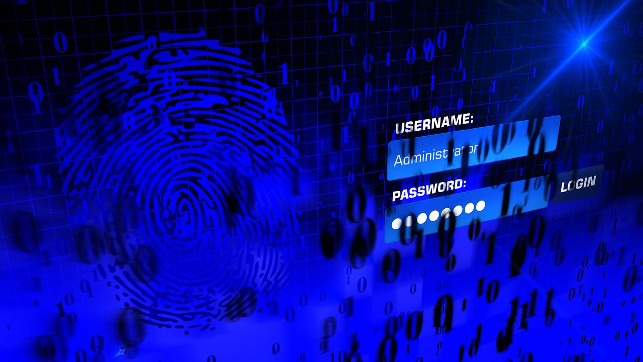 Log-in-Maske Passwort und Fingerabdruck