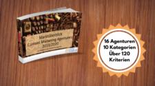Handbuch als Grafik zum Vergleich Content Marketing Agenturen