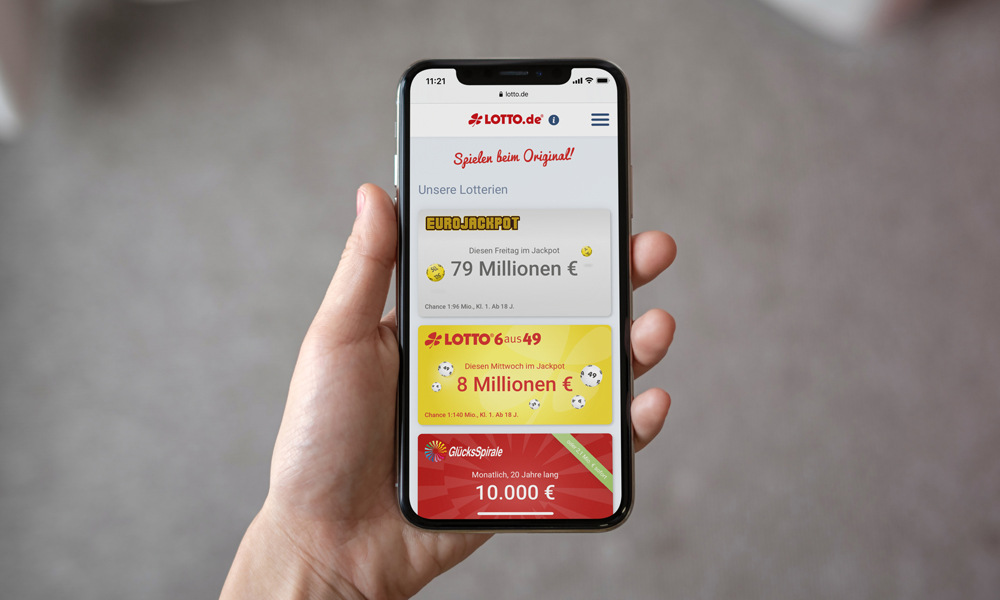 Mockup Lotto Smartphone