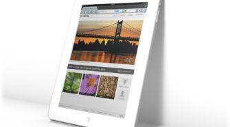 Tablet mit Bilddatenbanken