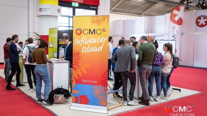 Die Influencer Island auf der CMCX.