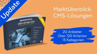 Marktüberblick CMS