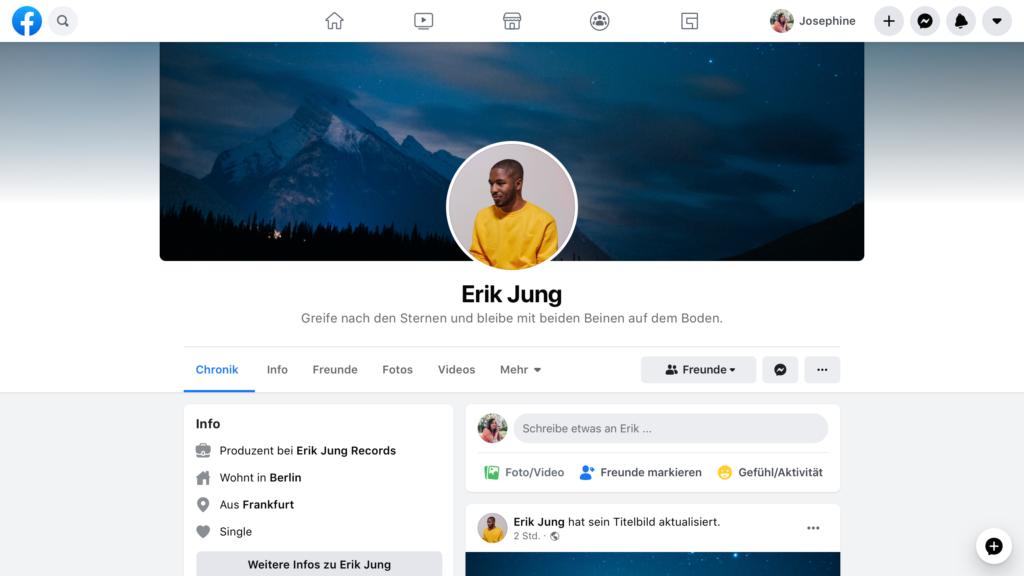 Neue Facebook-Navigation
