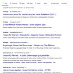 E-Commerce SEO, Suchergebnisse Google Herren Hosen