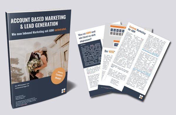 Whitepaper Account Based Marketing und Inbound Marketing