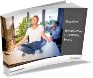 virtuelle events eCover Checkliste Erfolgsfaktoren virtuelle Events