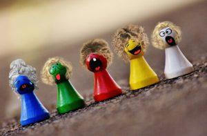 Wirkung von Farben Spielsteine
