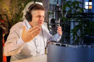 Voice Marketing Podcast Aufnahme
