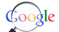 Spam LInk Update Google Logo mit Lupe