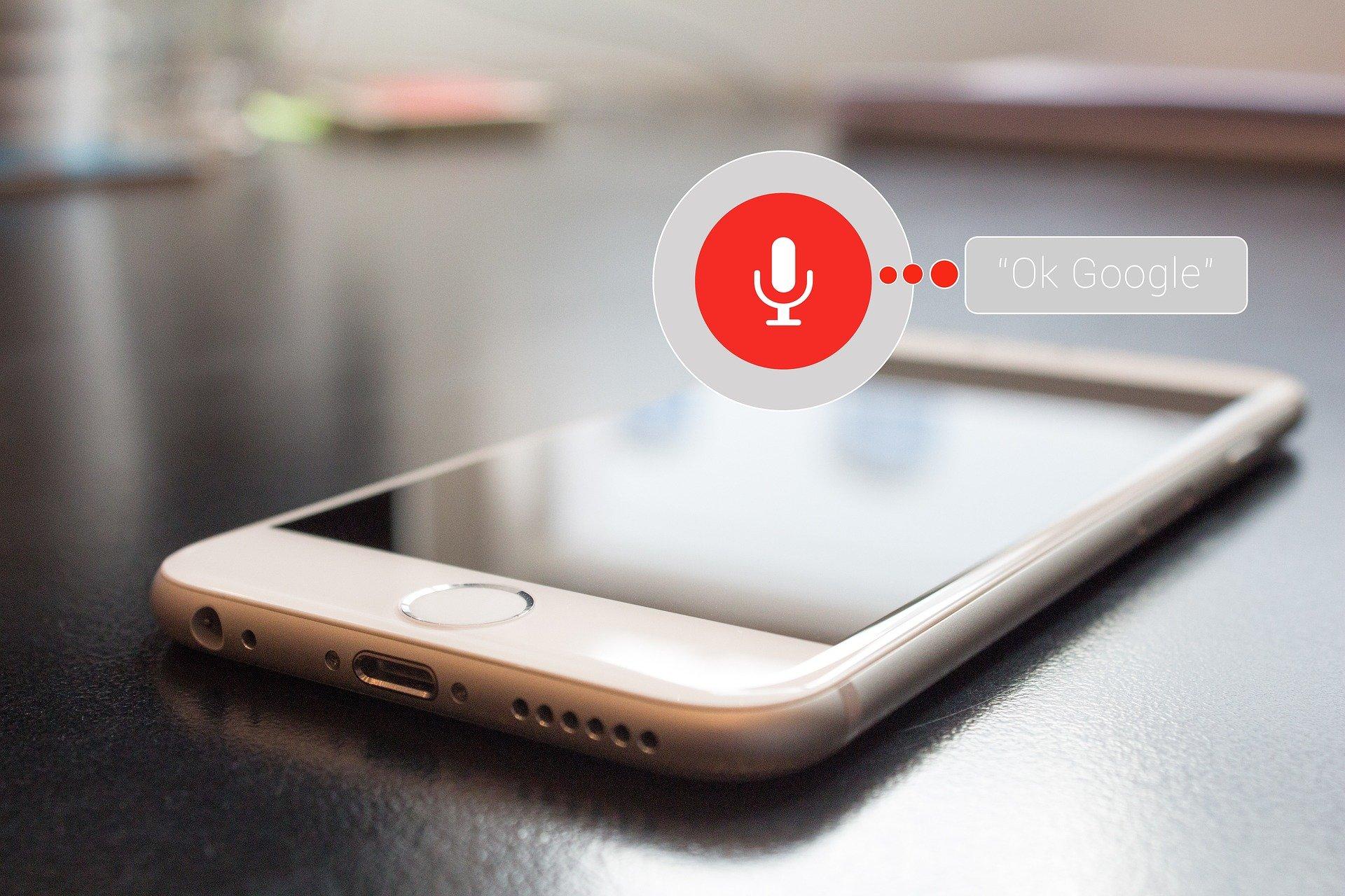 Voice Marketing Smartphone Sprachassistent Google Voice Control