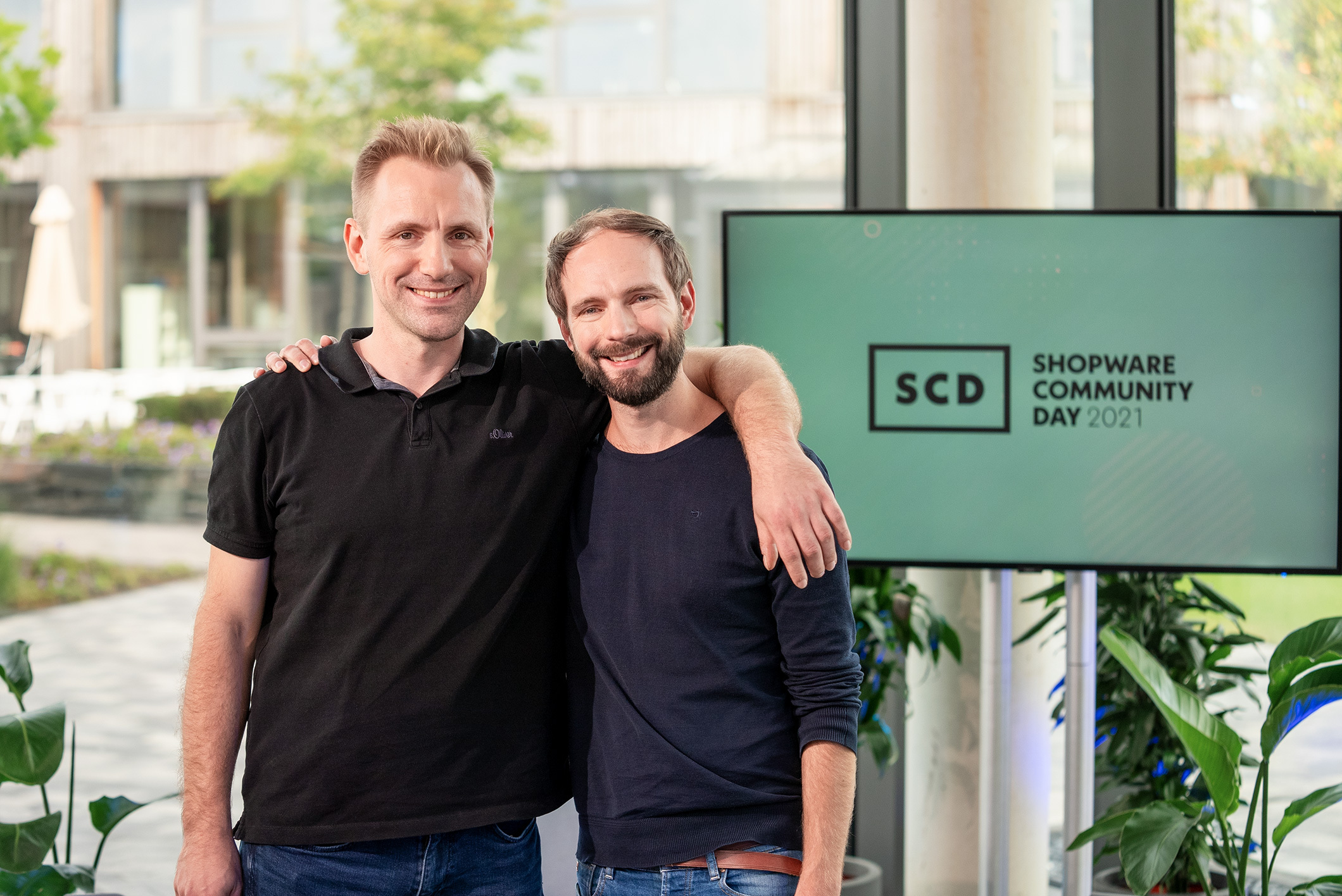 shopware community day 2021 stefan und sebastian hamann im scd studio